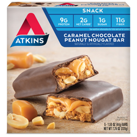 Caramel Chocolate Peanut Nougat Bar