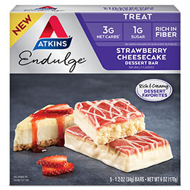 Endulge Strawberry Cheesecake Dessert Bar