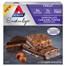 Endulge Chocolate Caramel Fudge Dessert Bar