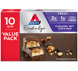 Endulge Caramel Nut Chew Bar Value Pack
