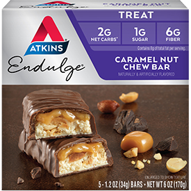 Endulge Caramel Nut Chew Bar