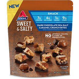 Dark Chocolate Sea Salt Caramel Crunch Bites