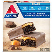 Caramel Double Chocolate Crunch Bar [atk-035057.jpg] - Click for More Information