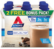 Mocha Latte BONUS 6-Pack under the category  in Atkins. - Click for More Information
