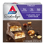 Picture of Endulge Caramel Nut Chew Bar Packaging